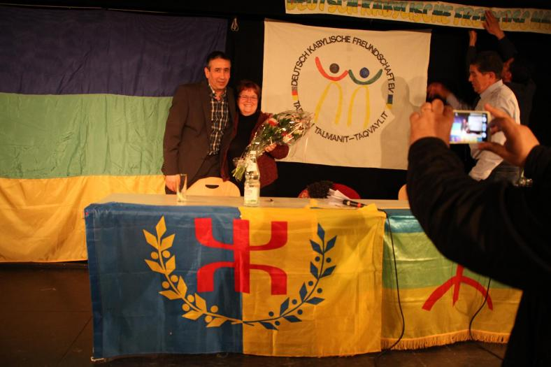 Dr Malika Baraka et Lyazid Abid, Munich avril 2016 DR Tamurt