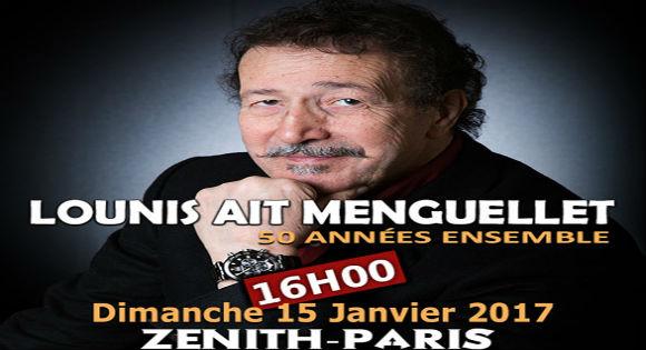 Lounis Aït Menguellet en concert le 15 janvier au Zénith de Paris