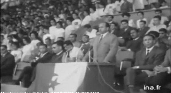 Krim Belkacem s'est adressé aux algériens en kabyle dans son premier discours